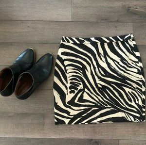 H&M Animal Print Skirt